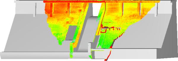 Suivi déformation ouvrage par relevé 3D LiDAR
