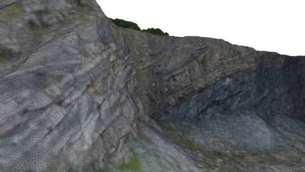 Exemple de mesh 3D obtenu par photogrammétrie