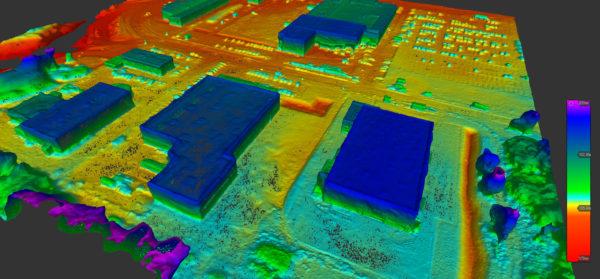 Modèle 3D obtenu par photogrammétrie basée sur des photos prises par drone