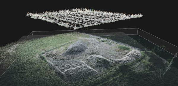 Photogrammétrie aérienne par drone avec plan de vol