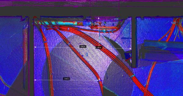 Une campagne de scan réalisée pendant la construction permet de conserver une trace des éléments qui seront ensuite masqués.