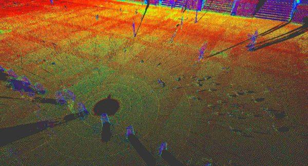 Nuage de point isolé issu d'un scanner laser 3D en station fixe