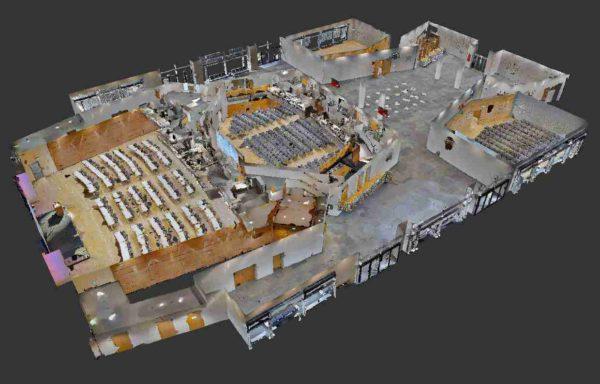 Numérisation 3D par scanner 3D Matterport - Source : VR-Matters