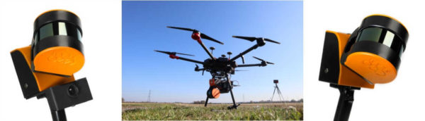 Le ZEB HORIZON est un scanner 3D portatif pouvant être installé sous un drone - GEOSLAM