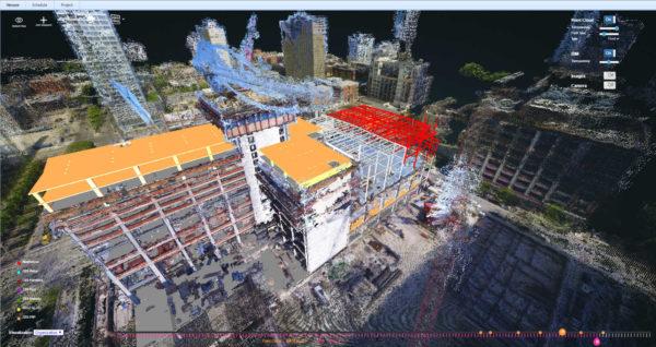 """Contrôle d'exécution par comparaison en un bâtiment scanné """"tel que construit"""" et la maquette BIM de l'ouvrage """"tel conçu"""" https://medium.com/reconstruct-inc/use-images-for-proactive-project-controls-on-construction-sites-f9c371359c9c"""