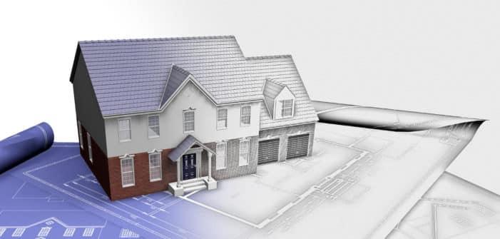 Maison modélisée en 3D sur la base de plans 2D