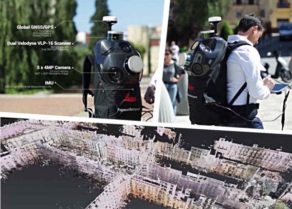 Leica Pegasus backpack : numérisation LiDAR mobile reposant sur le SLAM