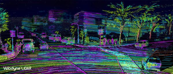 Environnement perçu par un véhicule autonome - Velodyne LiDAR