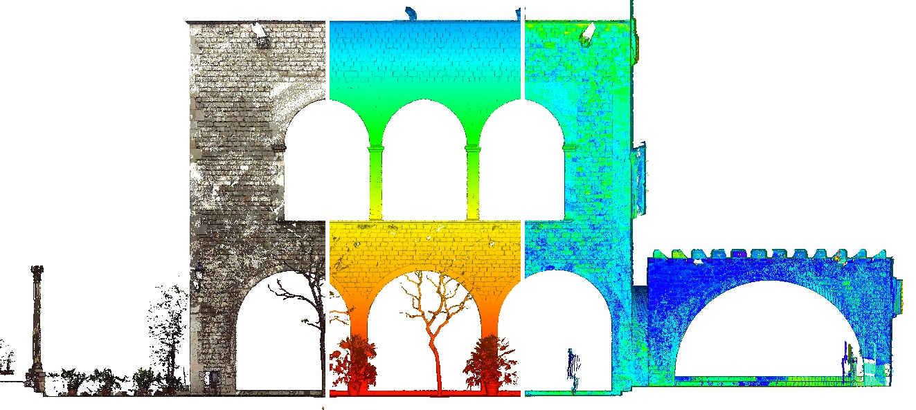 Un plan 2D de façade, sur la base d'un scan 3D