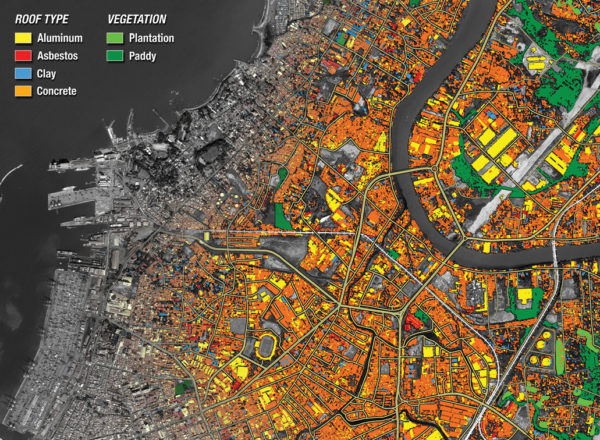 Exemple de classification LiDAR multi-spectrale pour la cartographie urbaine - https://lidarmag.com/2018/09/24/meaningful-mapping/