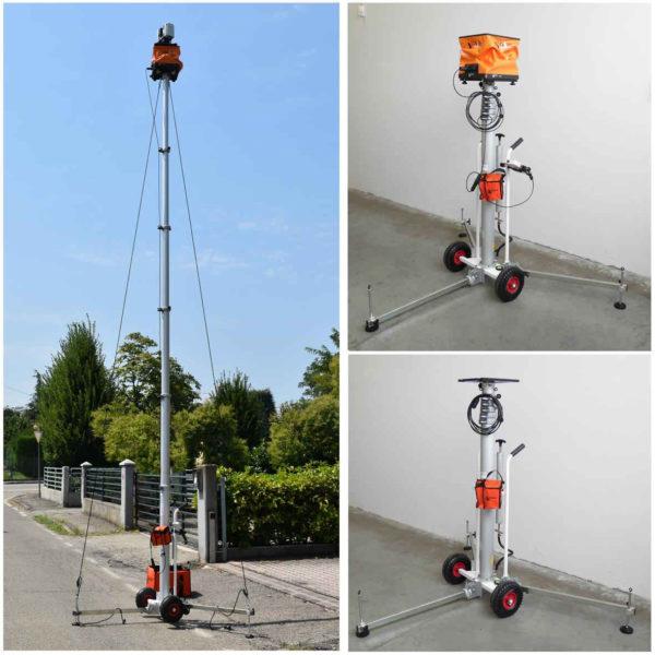 Perche télescopique pour scanner laser 3D - source: scan-go.eu