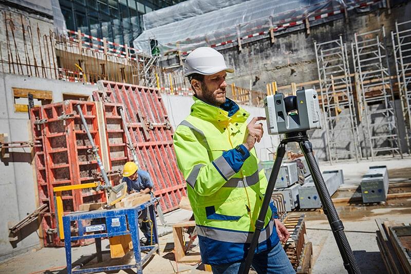 Un scanner laser 3D en station fixe. Leica RTC 360.