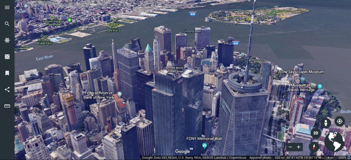 "New York - Modèle 3D urbain obtenu par photogrammétrie - <a href=""https://earth.google.com/web/@48.88808798,2.24724354,70.3773345a,455.88386387d,35y,44.32257097h,80.89998442t,0r"" target=""_blank"" rel=""noopener"">Image Google Earth</a>"