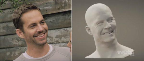 """La photogrammétrie a en partie été utilisée pour """"ressusciter"""" numériquement l'acteur Paul Walker dans le film Fast and Furious 7 - Image Weta Digital's"""