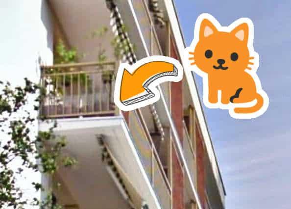 Zone occluse sur balcon dans une reconstruction 3D par photogrammétrie terrestre