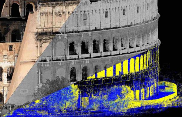 Le traitement des échos avec un scanner 3D Riegl